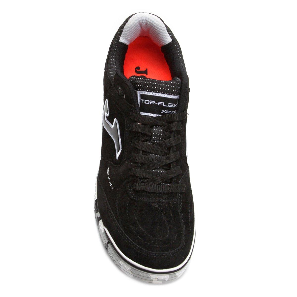 Chuteira Futsal Joma Top Flex Nobuck 821 IN - Preto - Compre Agora ... 0f70ee5a57780