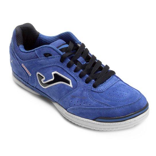 Chuteira Futsal Joma Top Flex Nobuck 835 IN - Azul