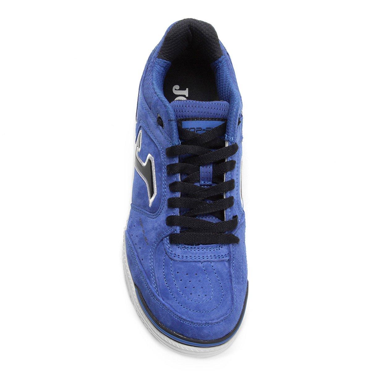 Chuteira Futsal Joma Top Flex Nobuck 835 IN - Azul - Compre Agora ... d922ea5311eea