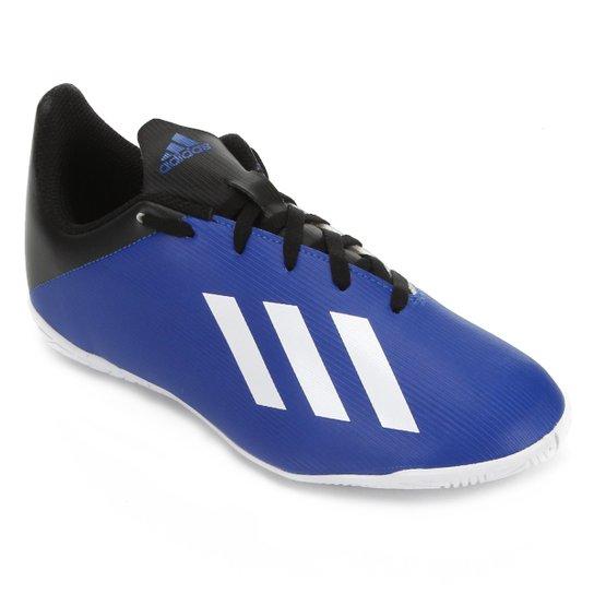 Chuteira Futsal Juvenil Adidas X 19 4 IN - Azul
