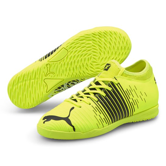 Chuteira Futsal Juvenil Puma Future Z 4.1 - Amarelo+Preto