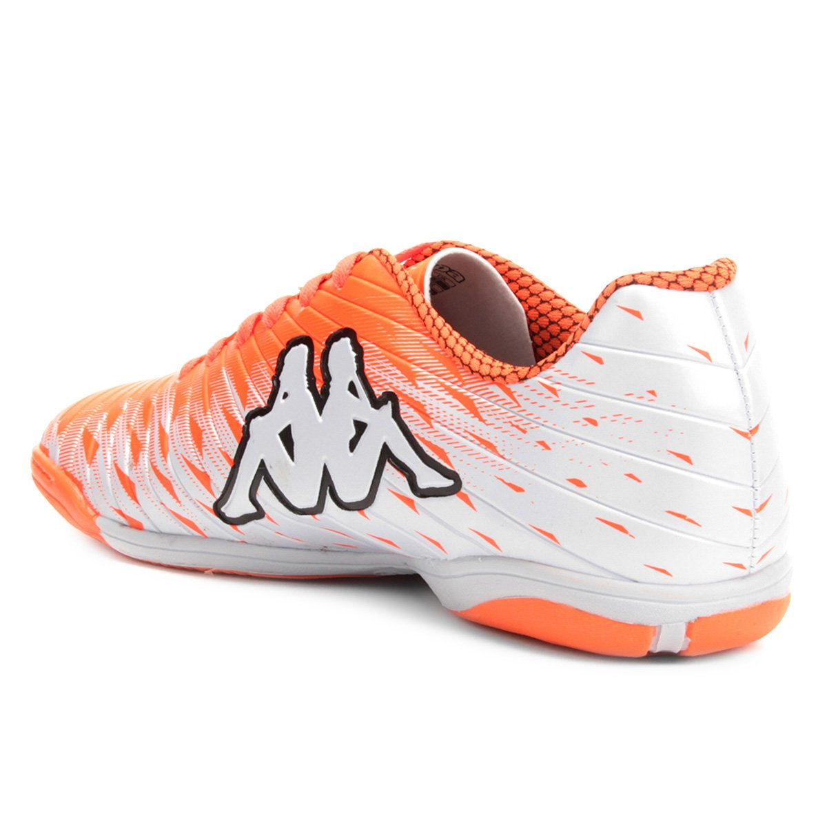 Chuteira Futsal Kappa Thunder - Branco e Laranja - Compre Agora ... 6470554732013