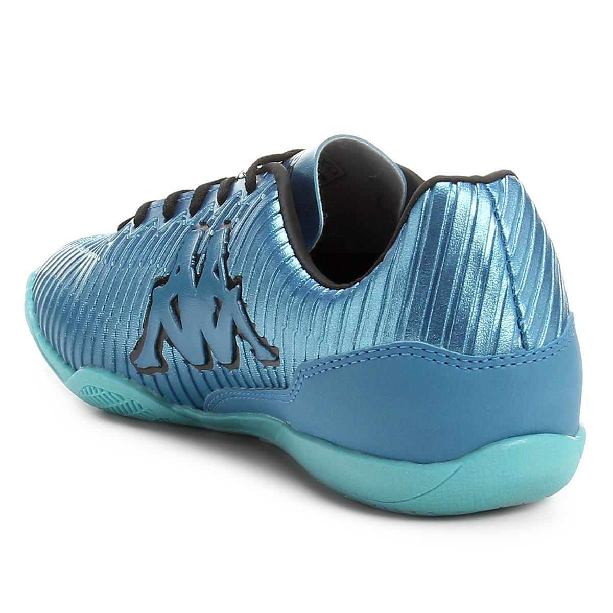 f1860866e7 Chuteira Futsal Kappa Tibre - Azul Turquesa e Azul Claro - Compre ...