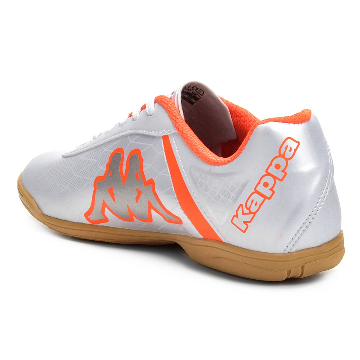 a68194cf9e Chuteira Futsal Kappa Torpedo - Branco e Laranja - Compre Agora ...