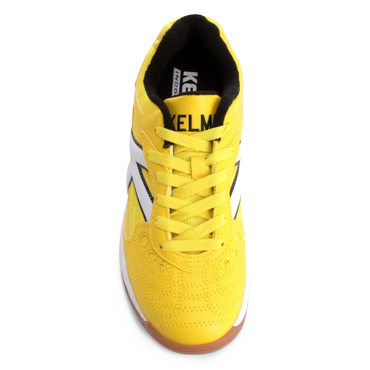 Chuteira Futsal Kelme Copa - Amarelo e Branco - Compre Agora  167c024d2c81f