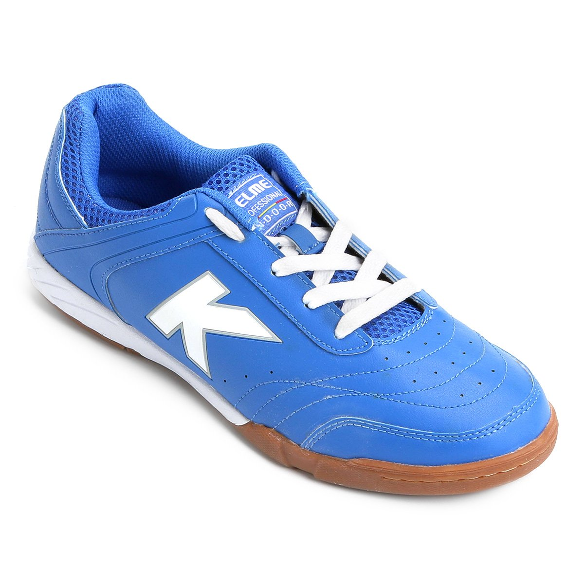 Branco Masculina Chuteira Kelme Precision Azul e Trn Chuteira Futsal Futsal  YqxzFz ... c1faef75035e7