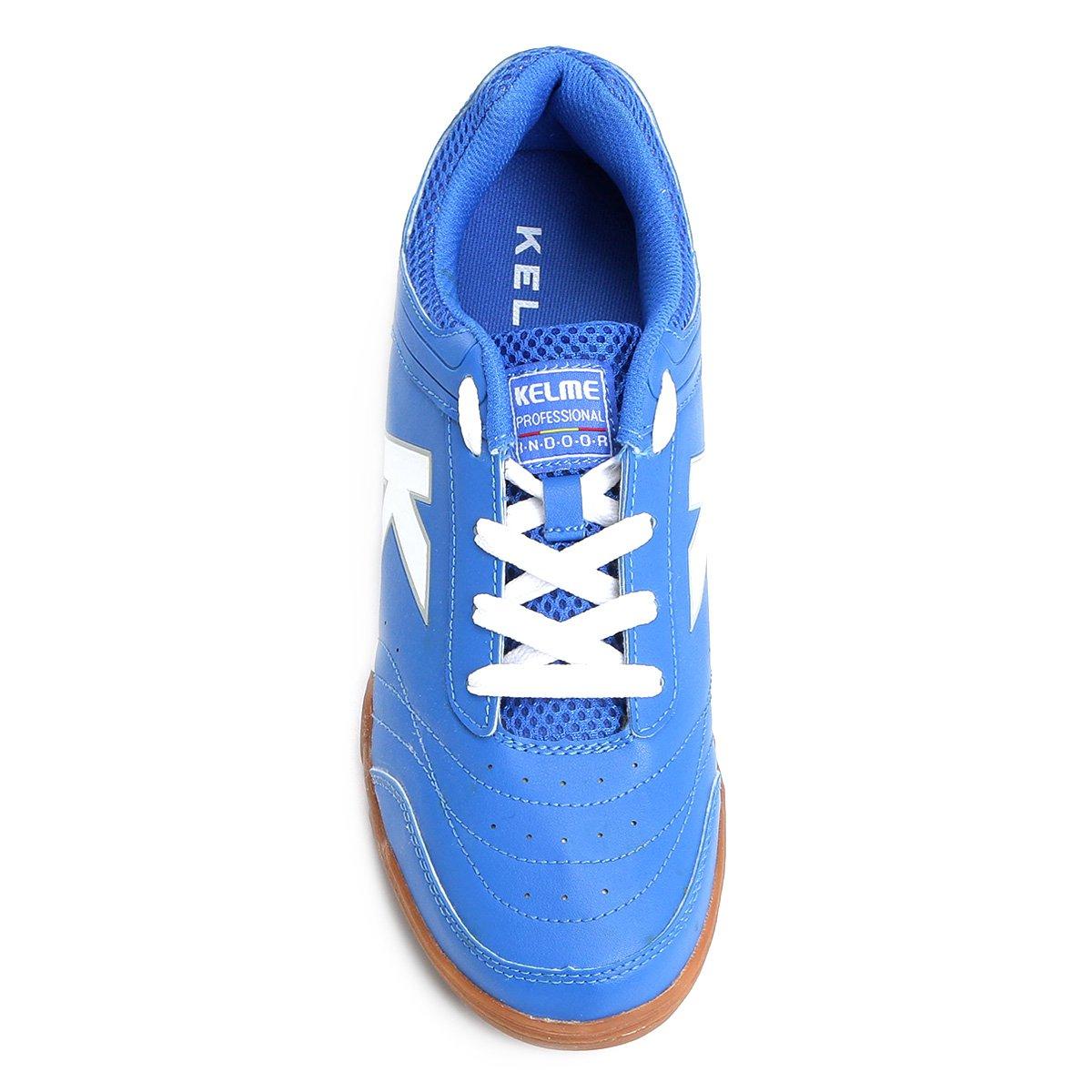 ... Branco Masculina Chuteira Kelme Precision Azul e Trn Chuteira Futsal  Futsal YqxzFz 2bf7765c5bb6d