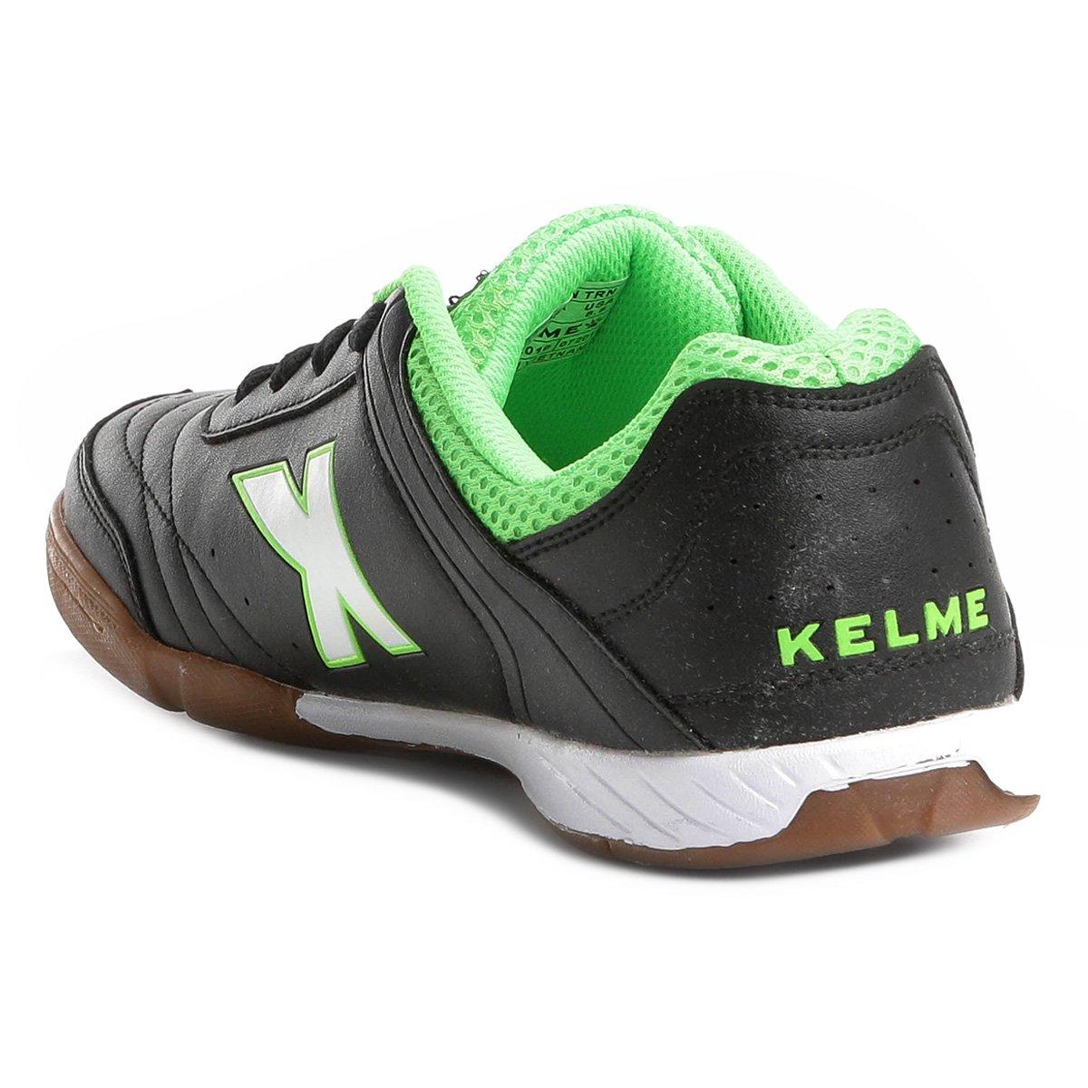 7cb0af744d Chuteira Futsal Kelme Precision Trn - Preto e verde - Compre Agora ...