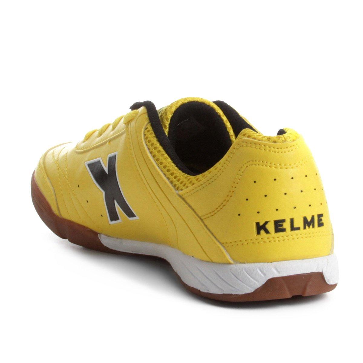 b806cfa289 Chuteira Futsal Kelme Precision Trn - Amarelo e Preto - Compre Agora ...