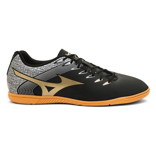 Chuteira Futsal Mizuno Genius In N Exclusiva - Preto+Dourado