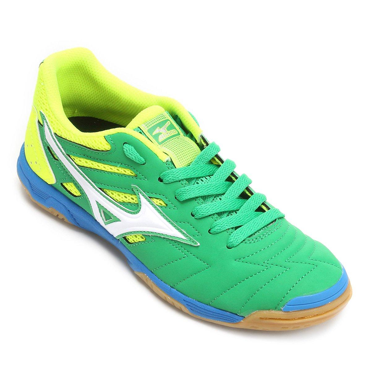 89dd5ef2f35c4 Chuteira Futsal Mizuno Sala Classic 2 In - Verde e Amarelo - Compre Agora