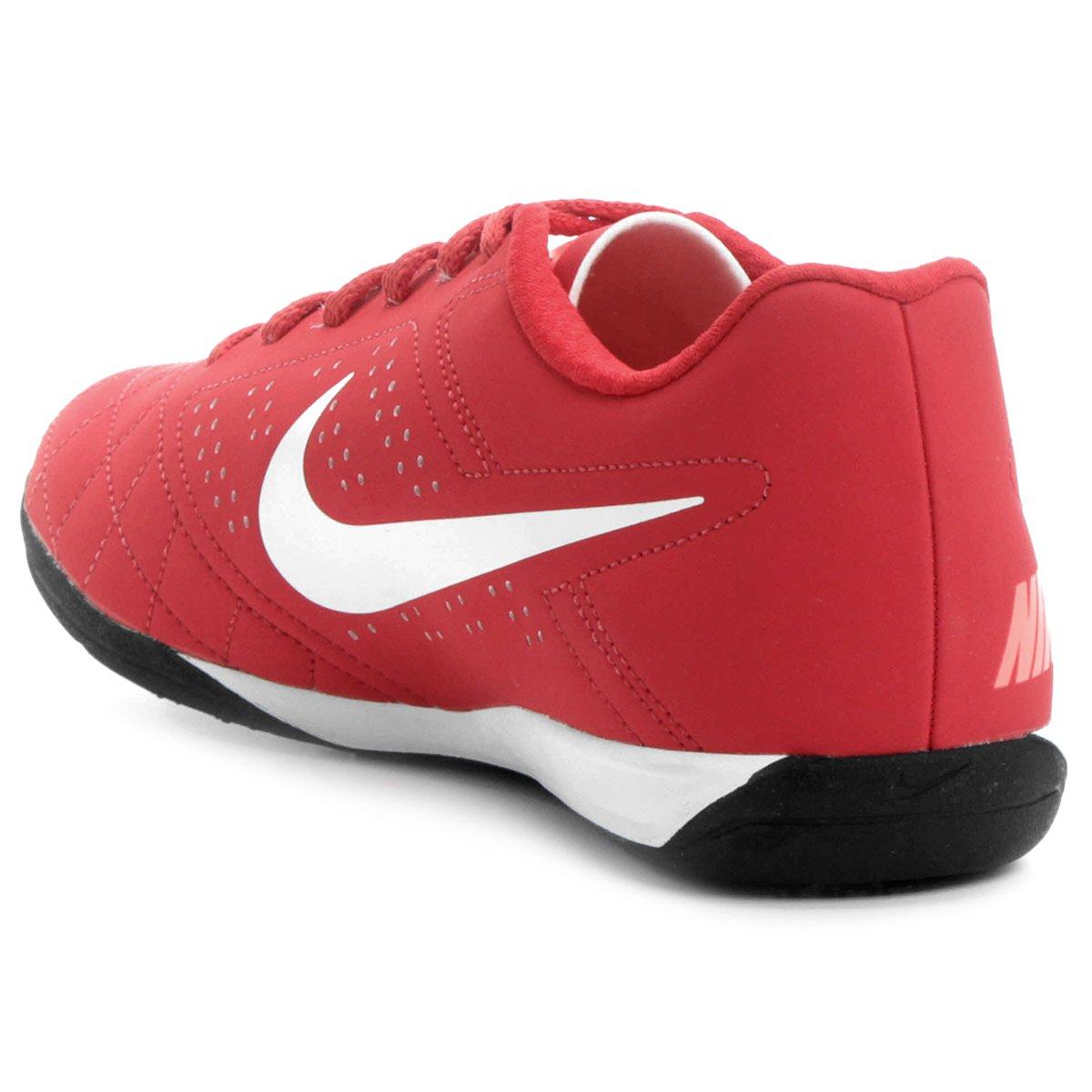 9b62e5e360 Chuteira Futsal Nike Beco 2 Futsal - Vermelho e Branco - Compre ...