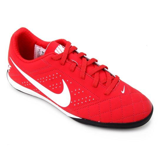 Chuteira Futsal Nike Beco 2 - Vermelho+Branco