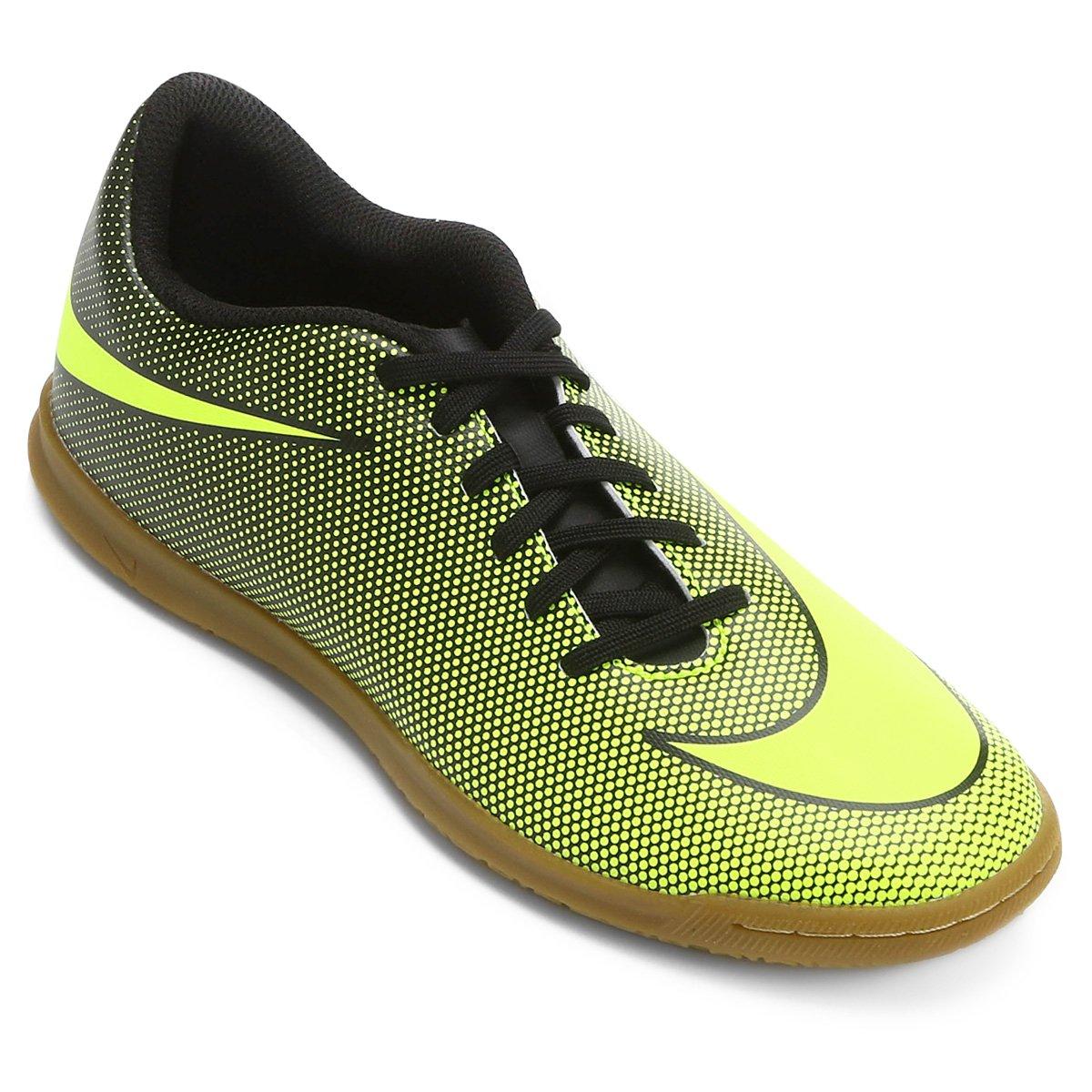696602a03de63 Chuteira Futsal Nike Bravata 2 IC - Preto e Amarelo - Compre Agora ...