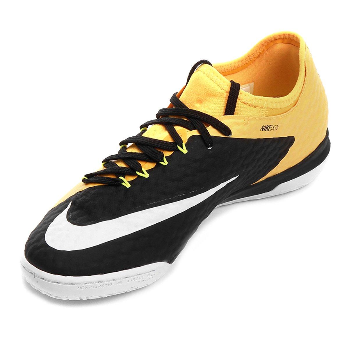 Chuteira Futsal Nike Hypervenom Finale 2 IC - Laranja e Preto ... 83f4410ea793b