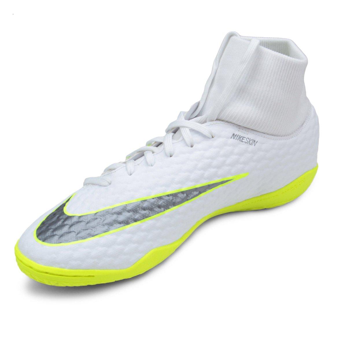Chuteira Futsal Nike Hypervenom Phantom 3 Academy DF IC - Branco e ... 633faad7c2a19