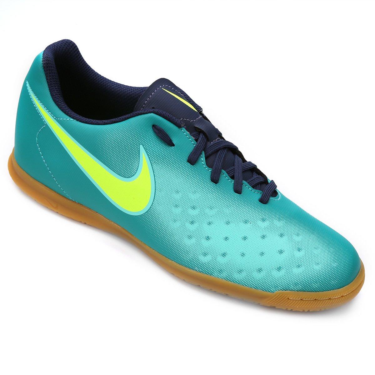 35cbc383a83a5 ... chuteira futsal nike magista ola ii ic masculina azul e verde