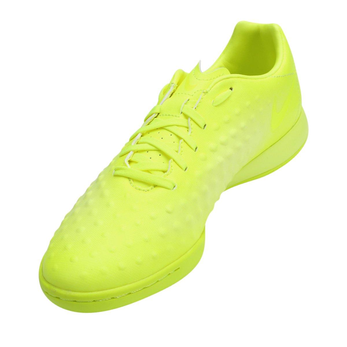 ... chuteira futsal nike magista onda ii ic masculina verde limão 28a62f712c84a