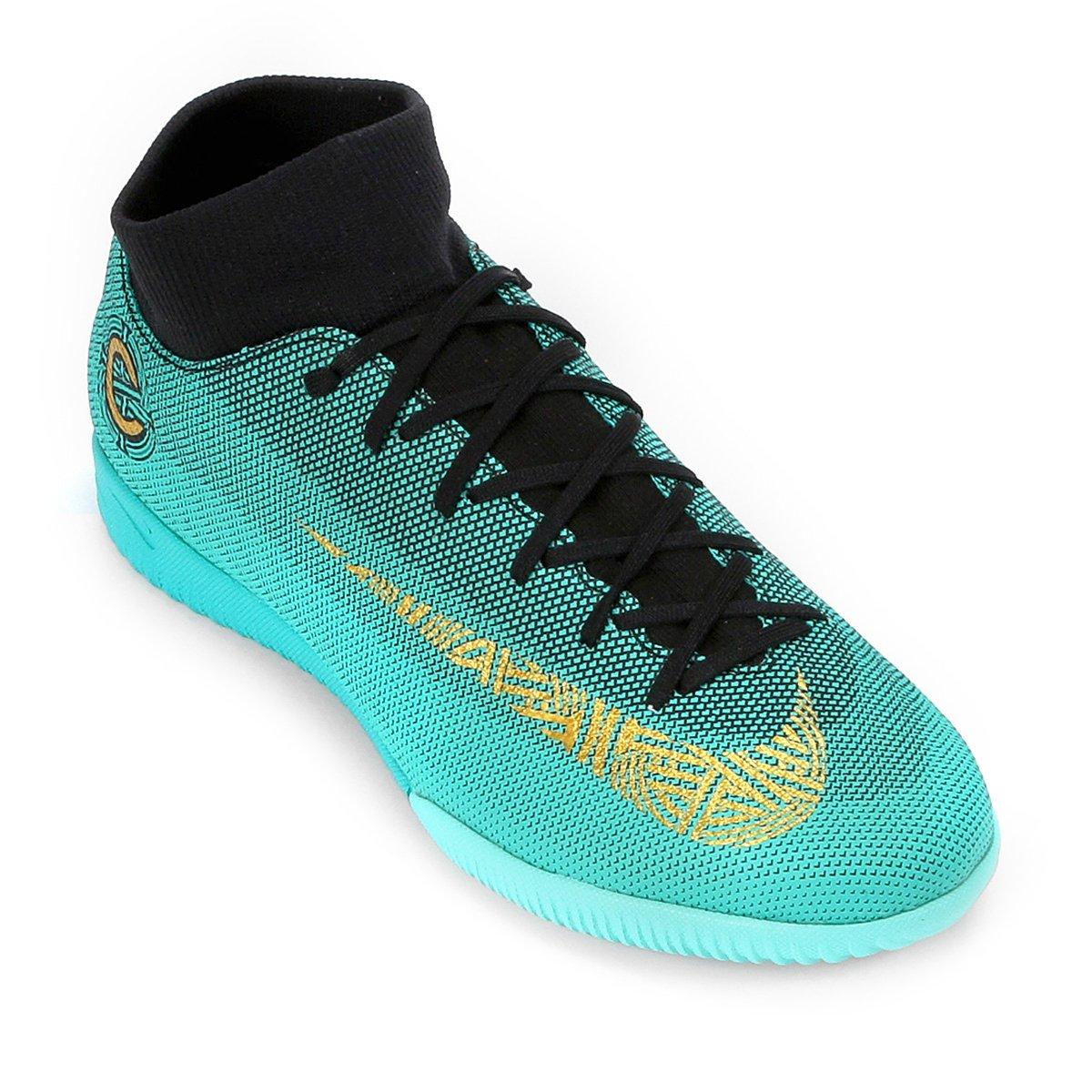 Superfly Chuteira IC 6 Mercurial Nike Academy Verde Masculina Futsal água CR7 tnxqr0t