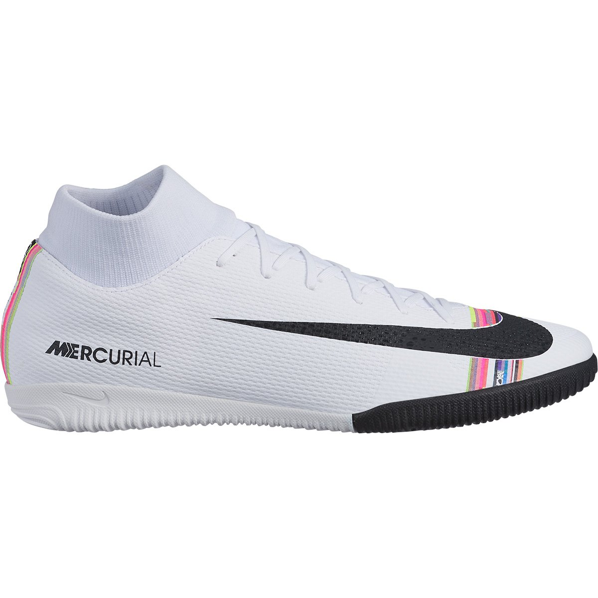 the best attitude 3bbed ecab8 Chuteira Futsal Nike Mercurial Superfly 6 Academy CR7 IC - Branco e Preto