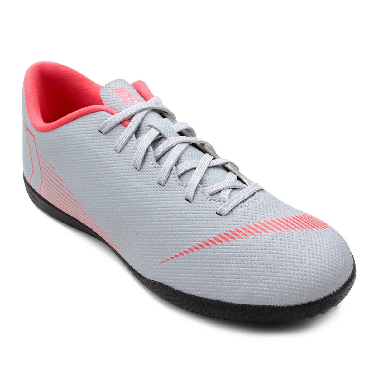 Chuteira Futsal Cinza 12 Masculina e Nike Mercurial Preto Vapor Club TfnFTr