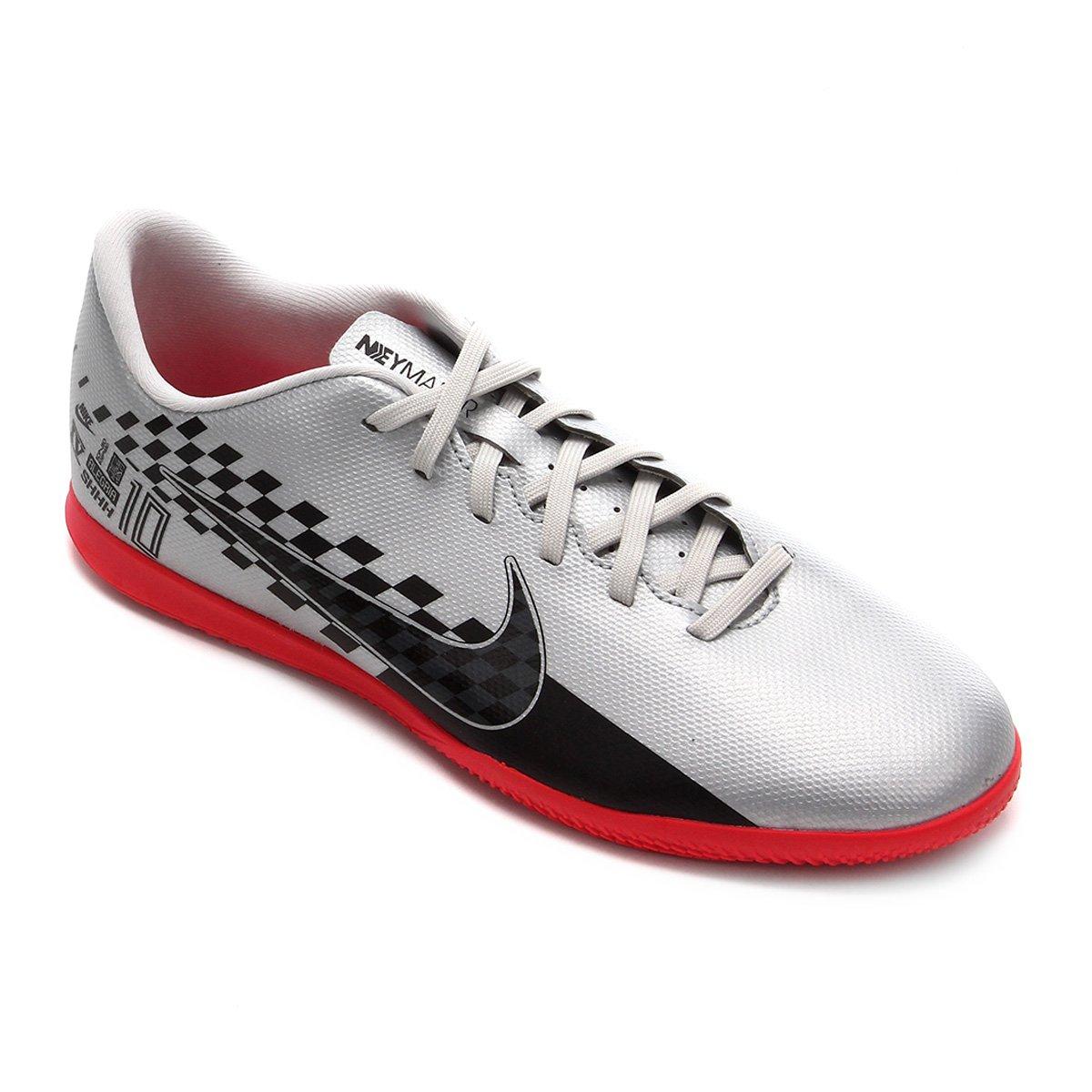 liberar información sobre diseño superior tienda Chuteira Futsal Nike Mercurial Vapor 13 Club Neymar Jr IC - Preto e Vermelho