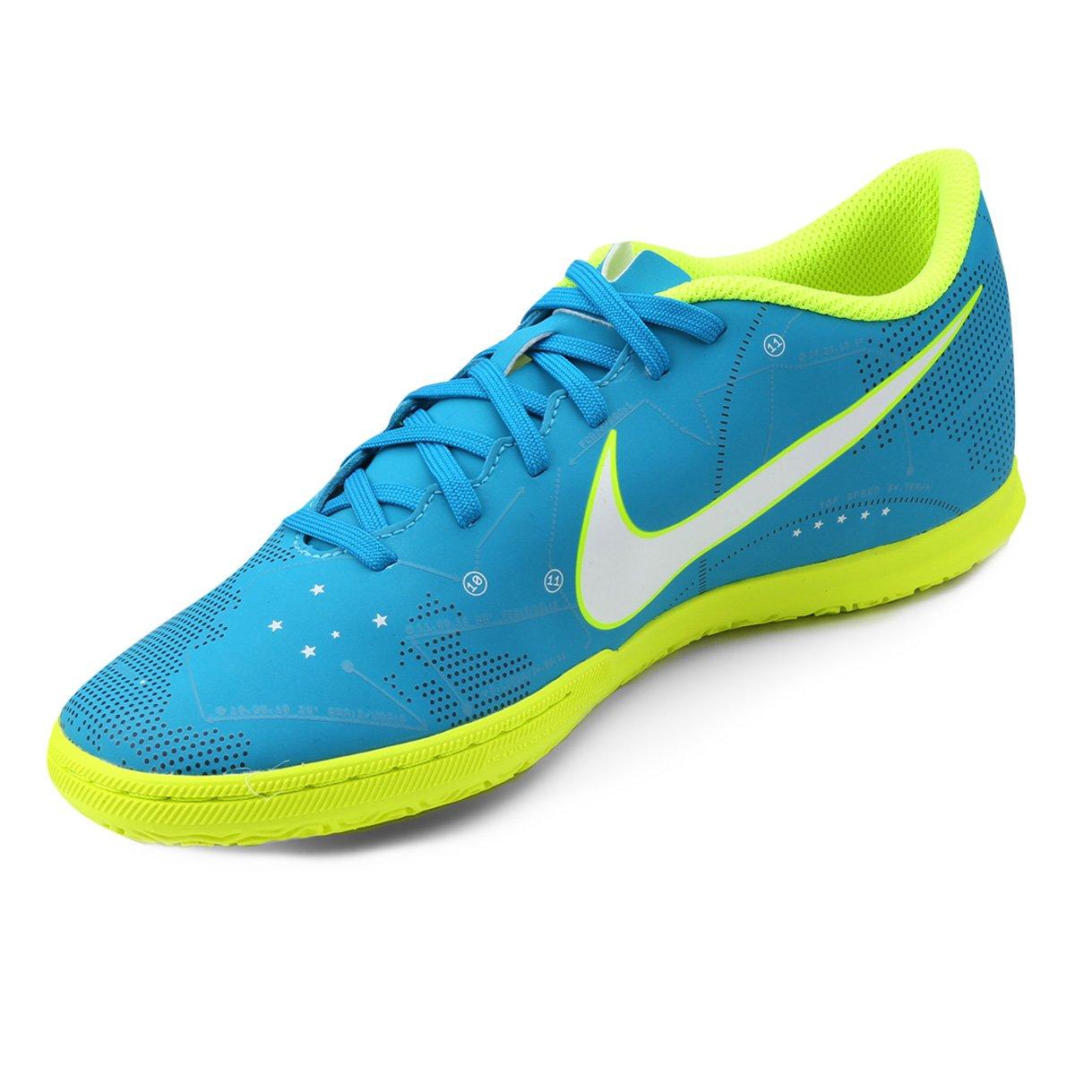 Chuteira Futsal Nike Mercurial Vortex 3 Neymar Jr IC - Azul e Branco ... 999ceee2caccb
