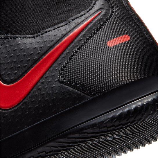 Chuteira Futsal Nike Phantom GT Club DF - Preto+Vermelho