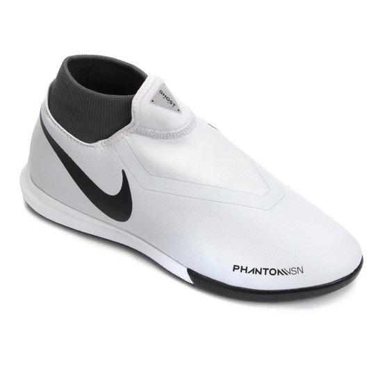 Chuteira Futsal Nike Phantom Vision Academy DF IC - Cinza