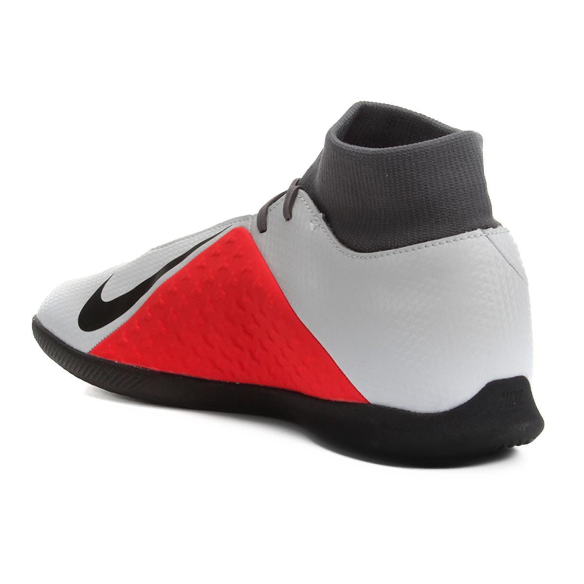 Chuteira Futsal Nike Phantom Vision Club DF IC - Cinza - Compre ... 744c7018c9642