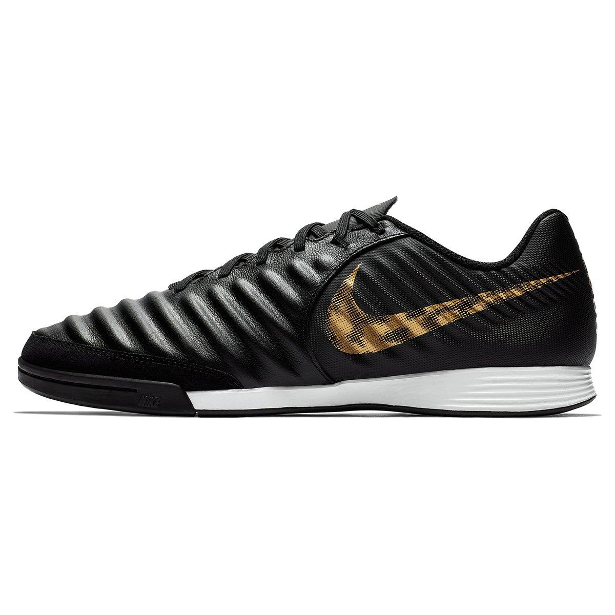 Chuteira Futsal Nike Tiempo Legend 7 Academy IC - Preto e Dourado - Compre  Agora  82e0347d71d34