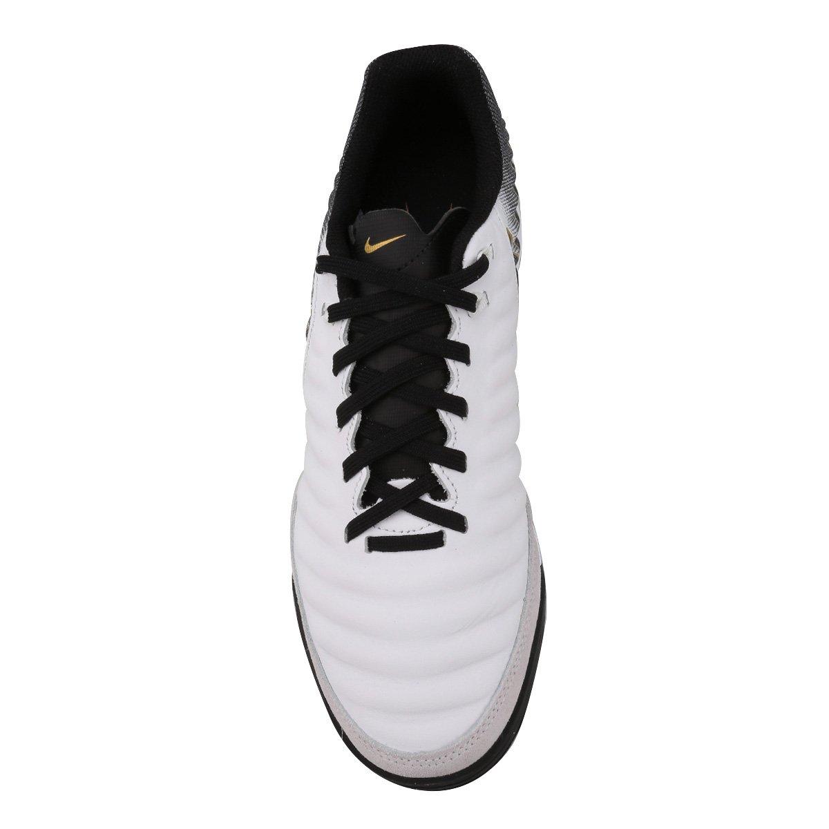 177de956ef Chuteira Futsal Nike Tiempo Legend 7 Academy IC - Branco e Preto ...