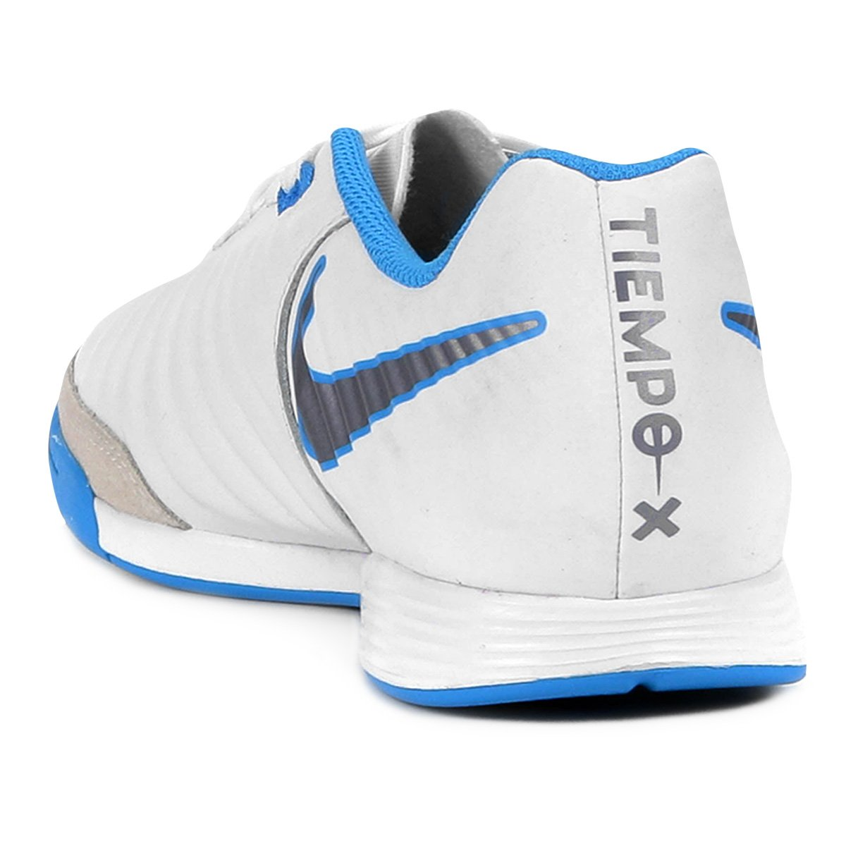1c926b9f8a Chuteira Futsal Nike Tiempo Legend 7 Academy IC - Branco e Azul ...