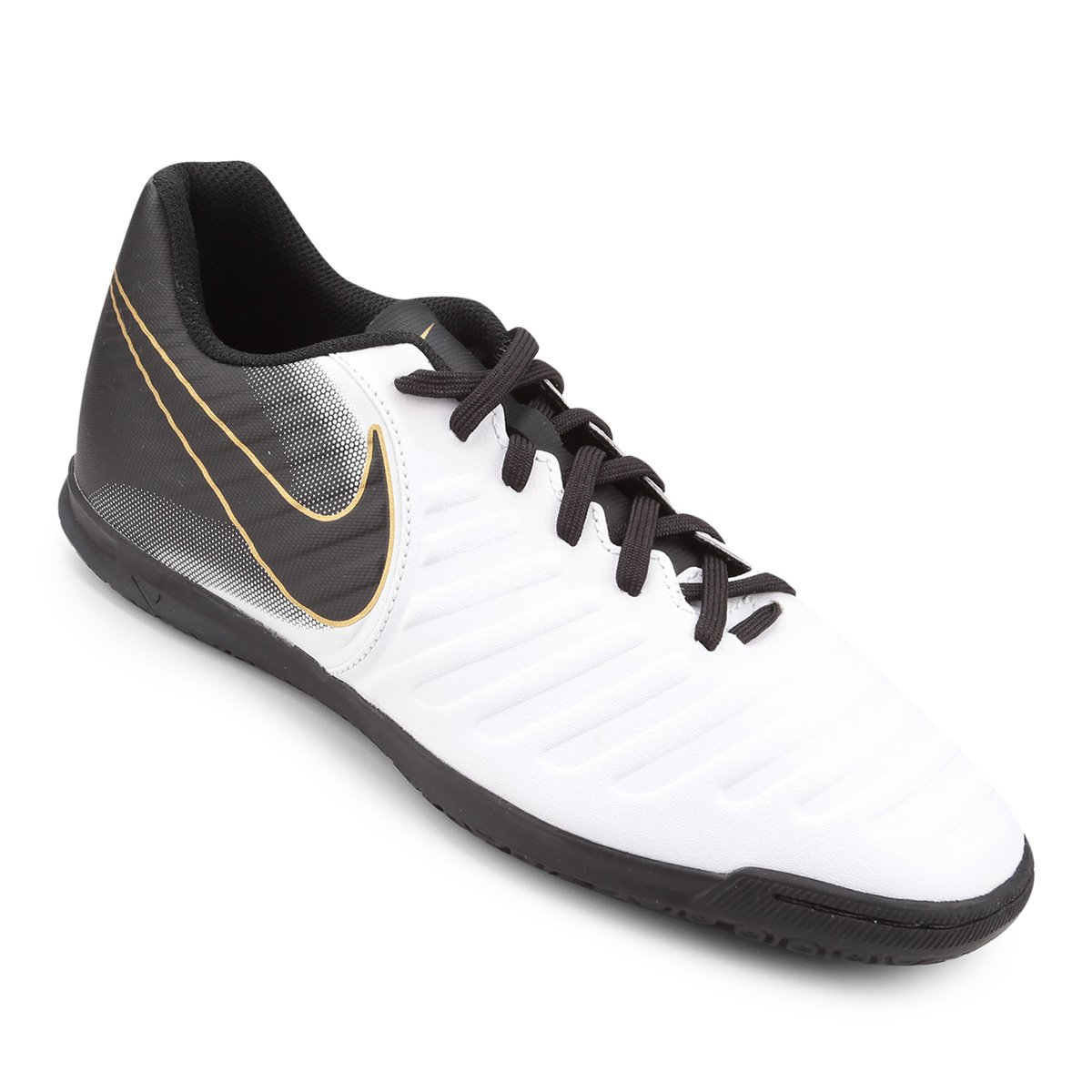 7c8dd53773 Chuteira Futsal Nike Tiempo Legend 7 Club IC - Branco e Preto
