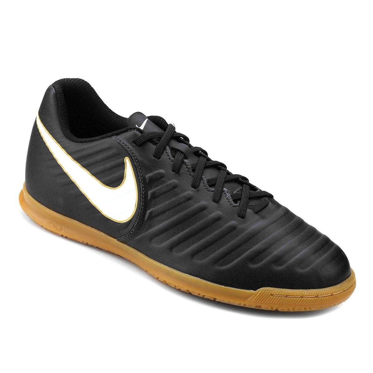 992ac7e8a2 Chuteira Futsal Nike Tiempo Rio 4 IC - Preto e Branco - Compre Agora ...