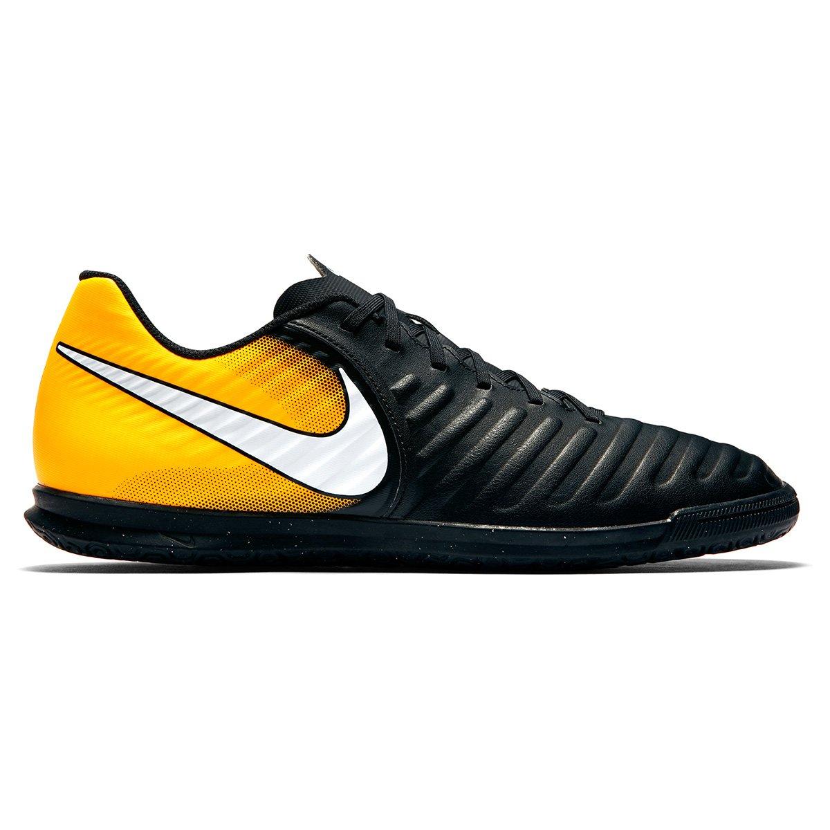 Chuteira Futsal Nike Tiempo Rio 4 IC - Preto e Laranja - Compre ... 4fbf709f9dae8