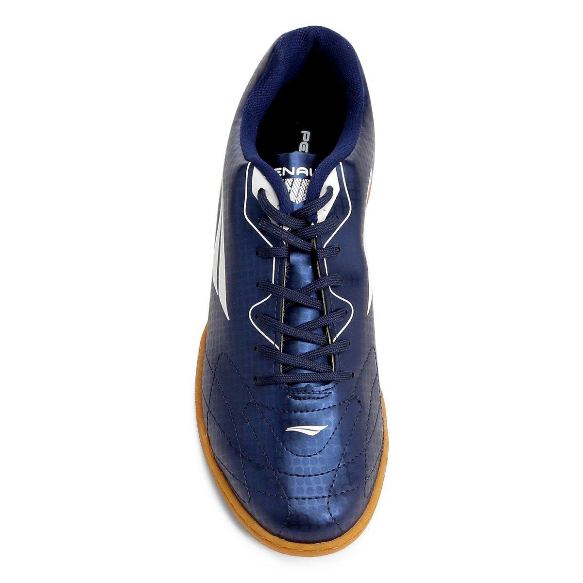67fea6b4a4 Chuteira Futsal Penalty Matis VIII Masculina - Azul e Branco ...