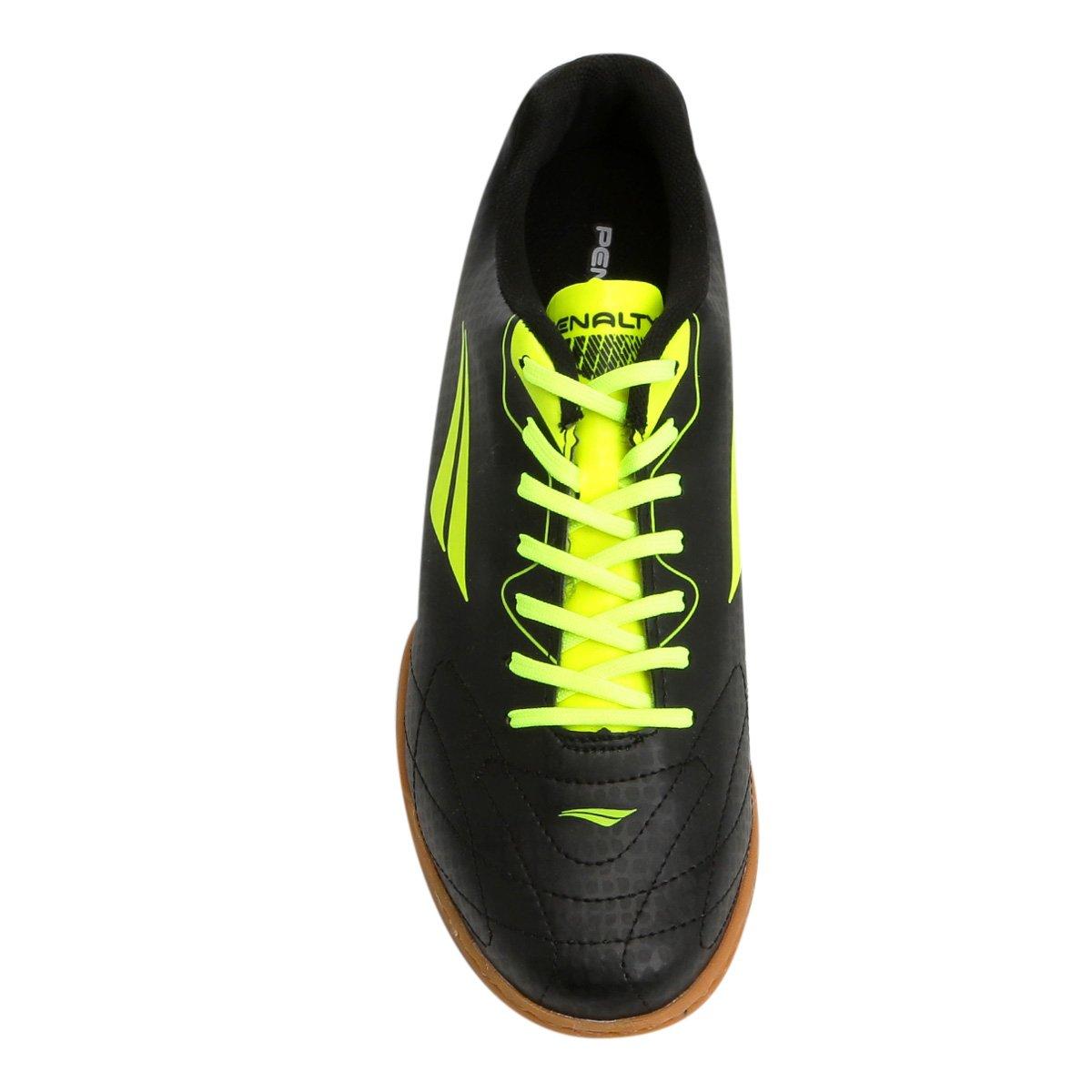 fb8e1e5a98 Chuteira Futsal Penalty Matis VIII Masculina - Preto e Amarelo ...