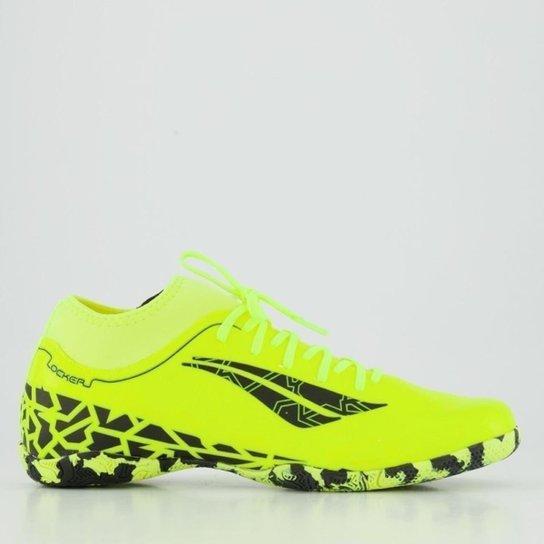 Chuteira Futsal Penalty RX Locker VII - Amarelo+Preto