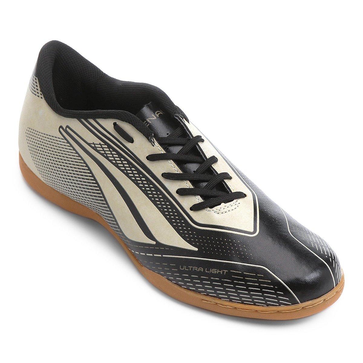 Chuteira Penalty Futsal e Preto Masculina Dourado 7 Speed Storm rprd5q