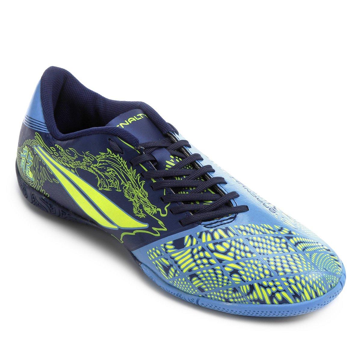 a5ff44ead19ef Chuteira Futsal Penalty Victoria Dragon 7 Masculina - Azul e Marinho |  Netshoes