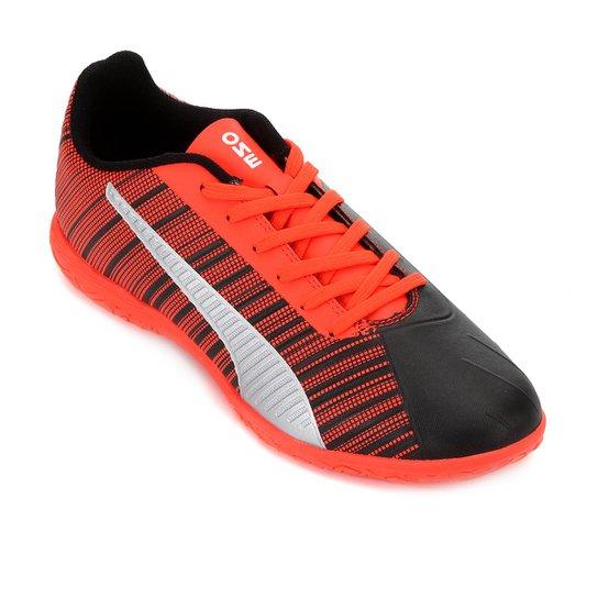 Chuteira Futsal Puma One 5.4 IT Bdp - Preto+Vermelho