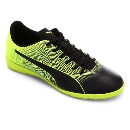 Chuteira Futsal Puma Spirit II IT Bdp - Preto+Amarelo