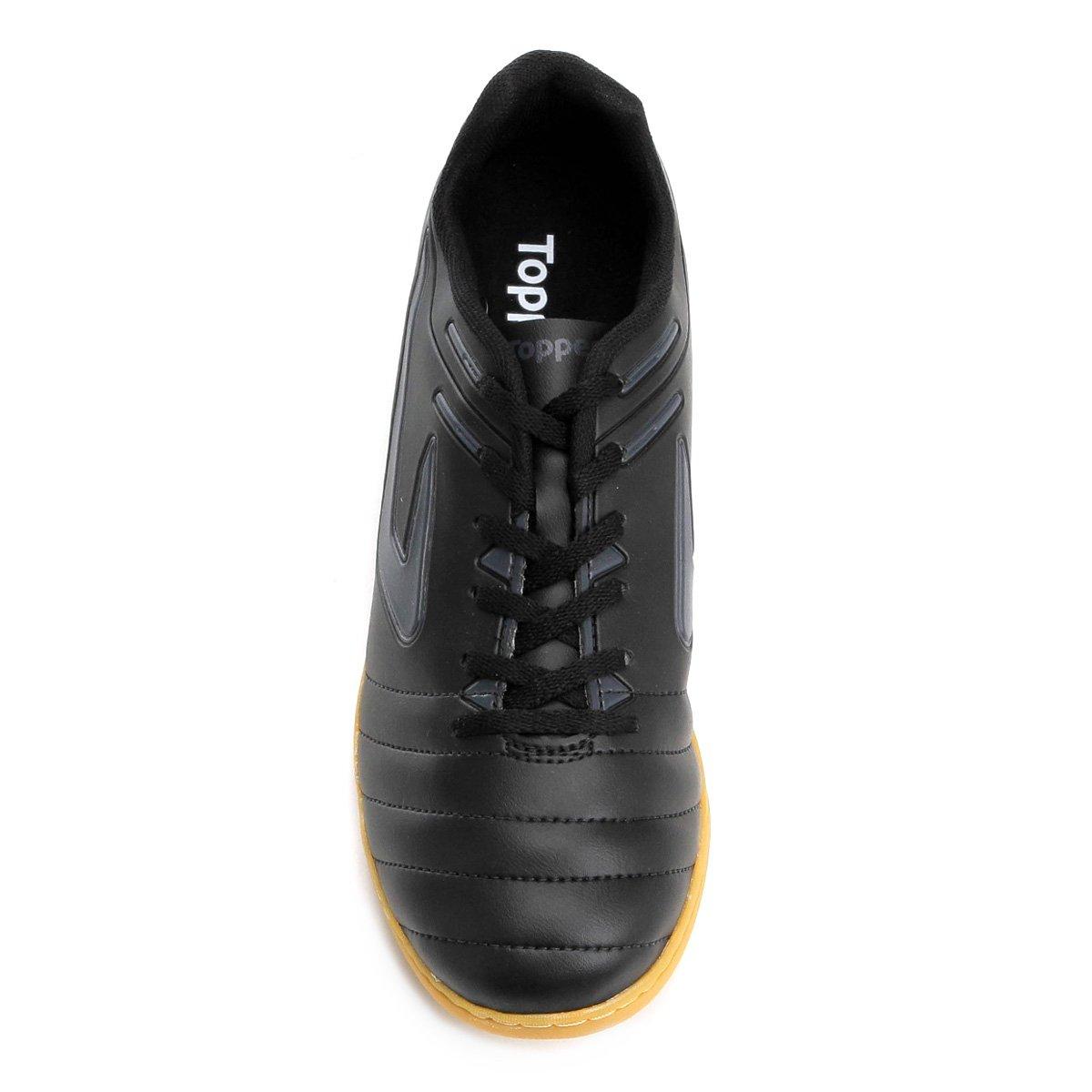 Chuteira Futsal Topper Boleiro - Preto - Compre Agora  0662a59a96015