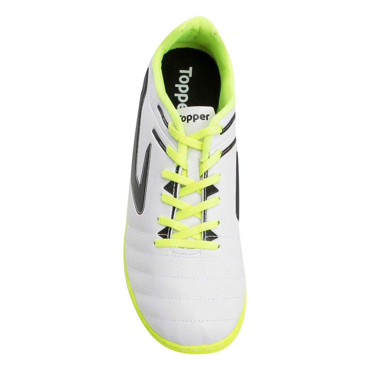 Chuteira Futsal Topper Boleiro - Branco e Preto - Compre Agora ... dc11d9d38962e