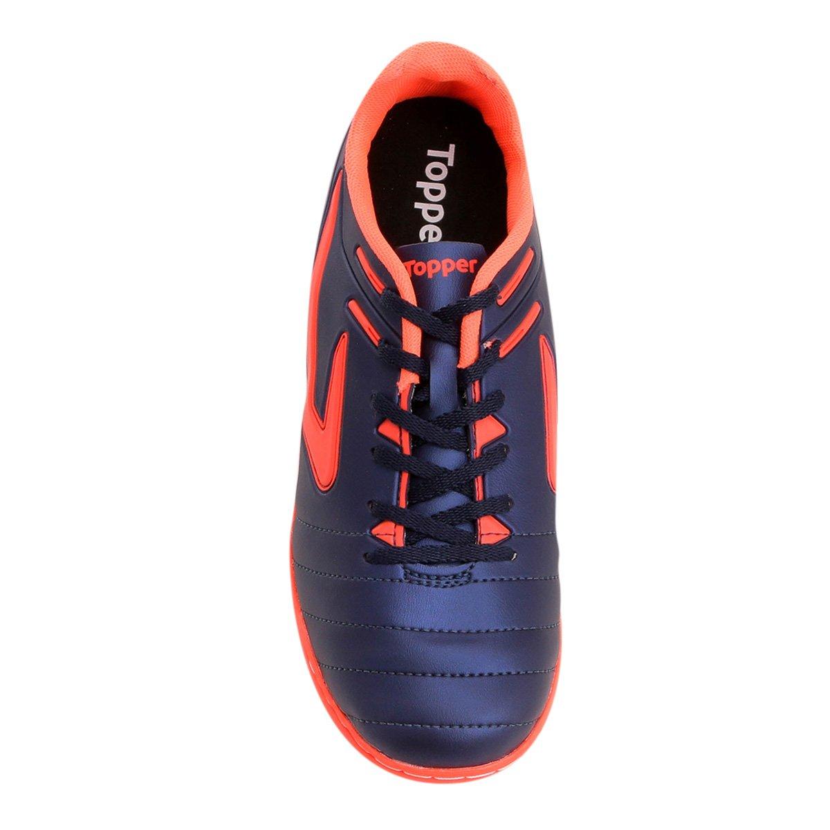 Chuteira Futsal Topper Boleiro - Marinho e Cinza - Compre Agora ... e8207c8773f5a