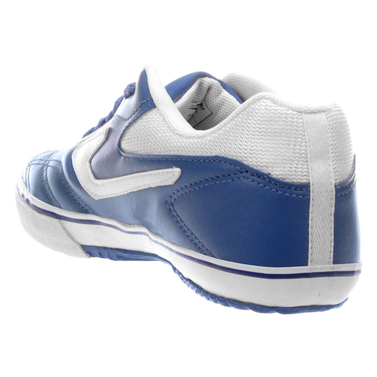 Chuteira Futsal Topper Dominator 3 - Azul e Branco - Compre Agora ... 0e7f4625775f6