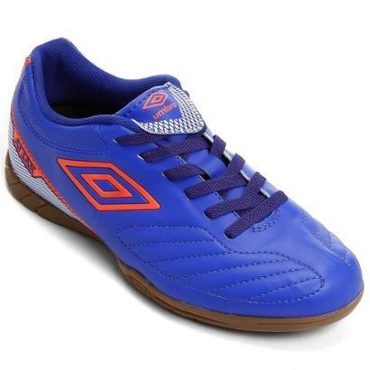 Chuteira Futsal Umbro Attak 2 - Azul e Branco - Compre Agora  26345d47ff4a2
