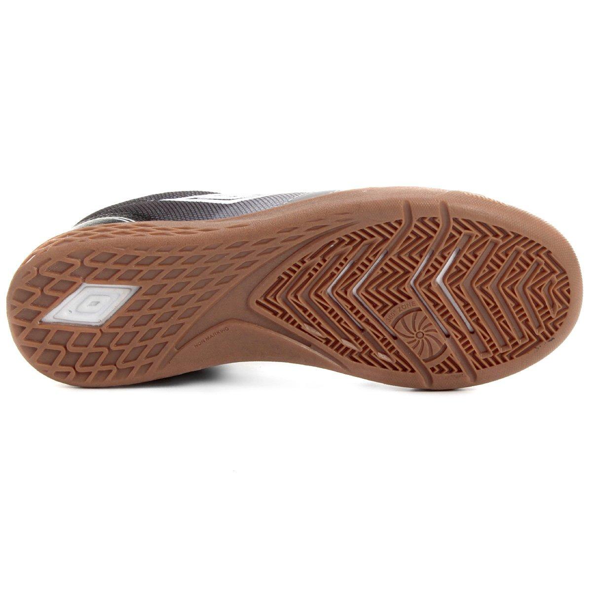 7fbe310da8 Chuteira Futsal Umbro Box - Cinza e Preto - Compre Agora