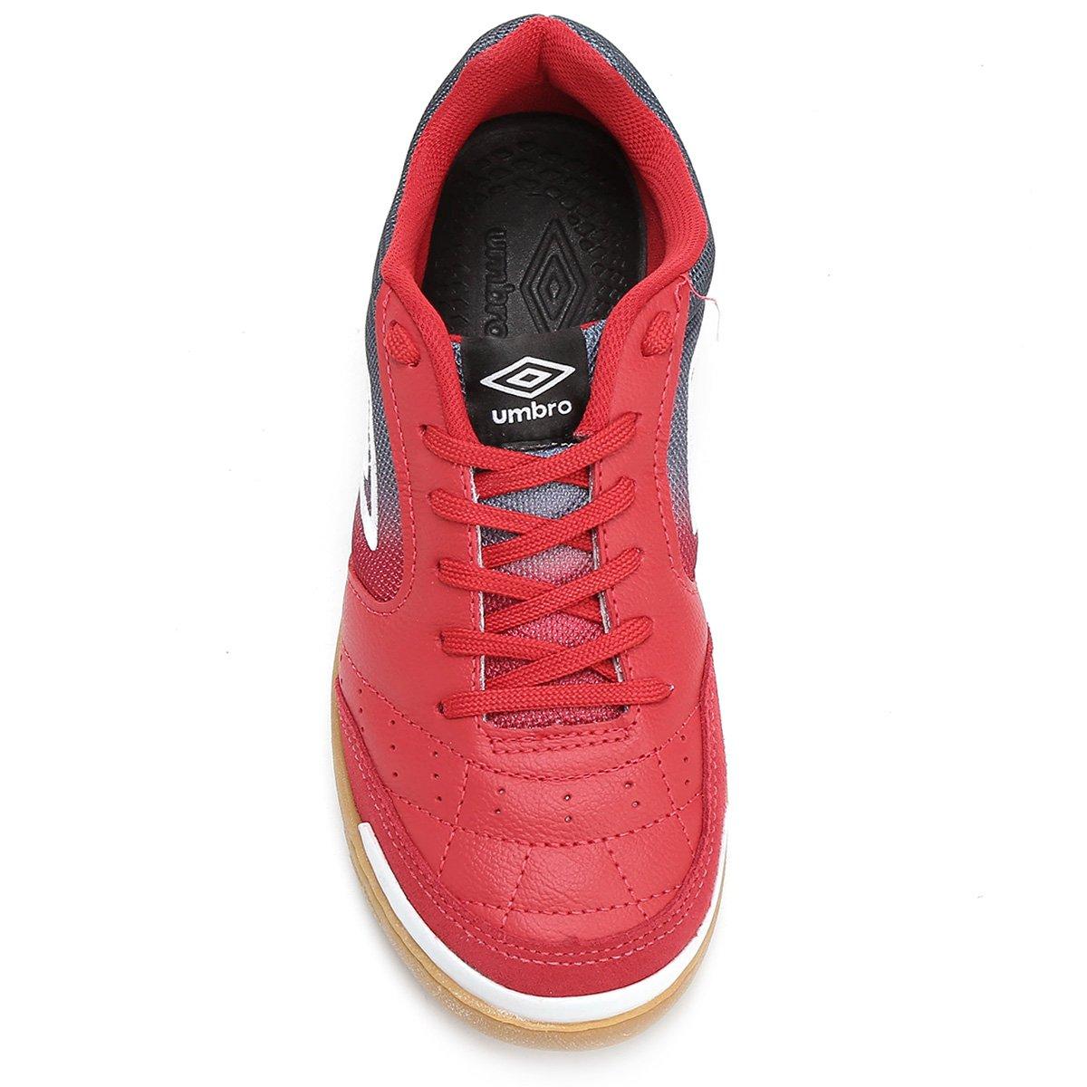 836a7bc5d7 Chuteira Futsal Umbro Box - Vermelho e Marinho - Compre Agora